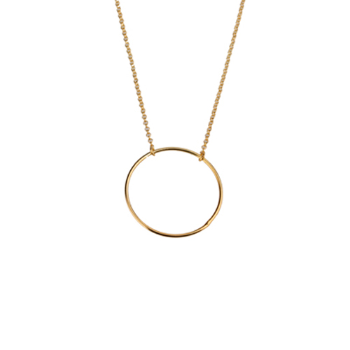collar circulo oro