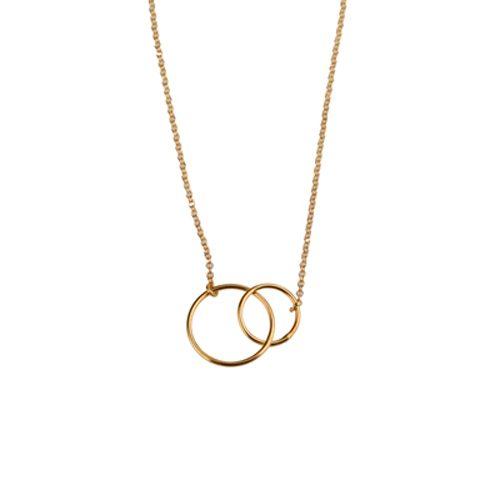 collar circulos oro
