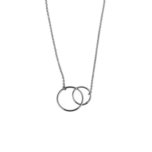 collar circulos plata