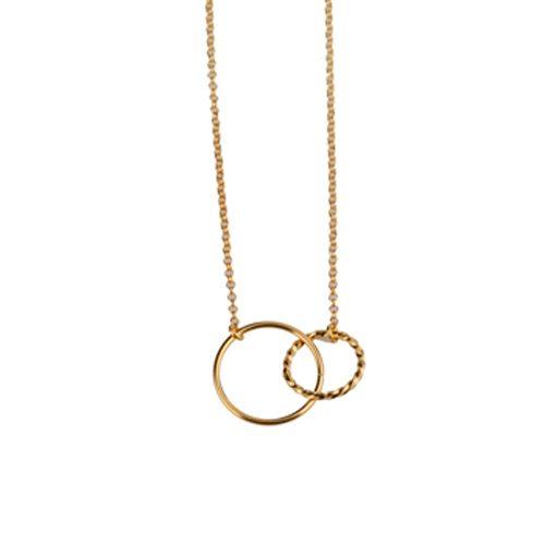 collar circulos trenzados oro