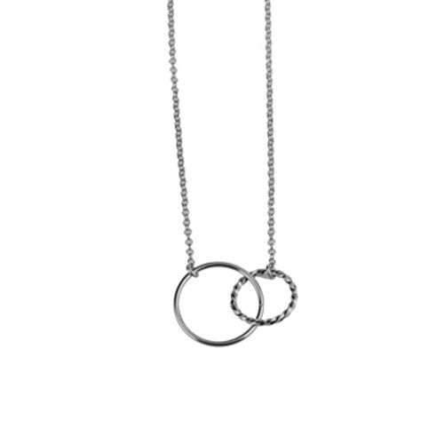collar circulos trenzados plata
