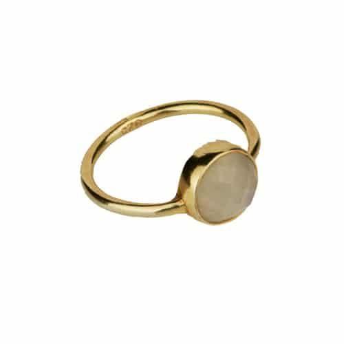 anillo cuarzo rosa oro