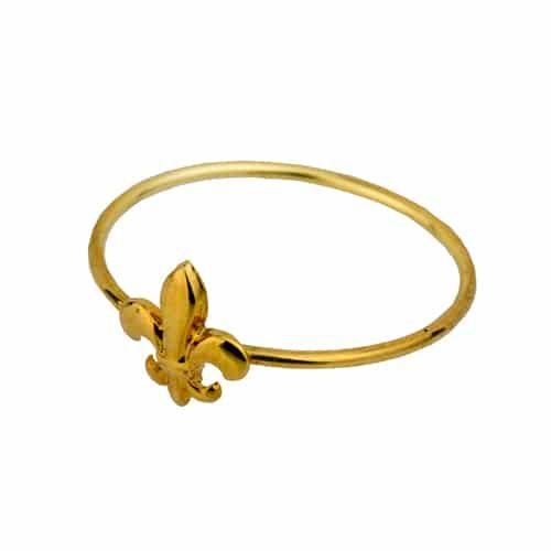 Anillo flor de lis con baño de Oro