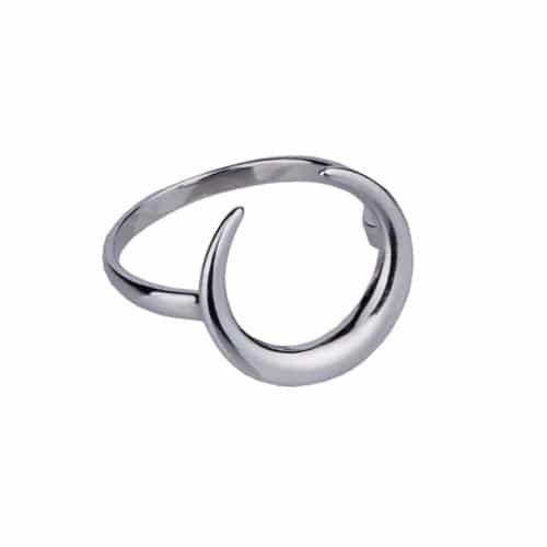 anillo cuerno plata