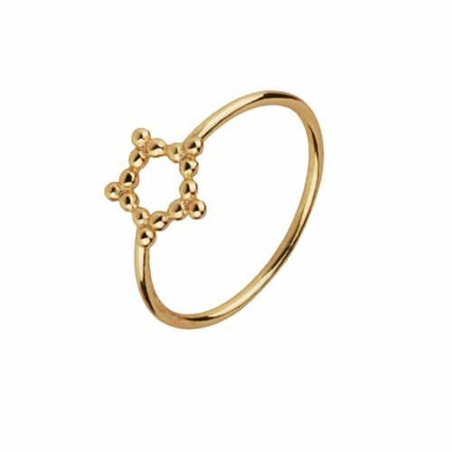 anillo puntitos estrella oro