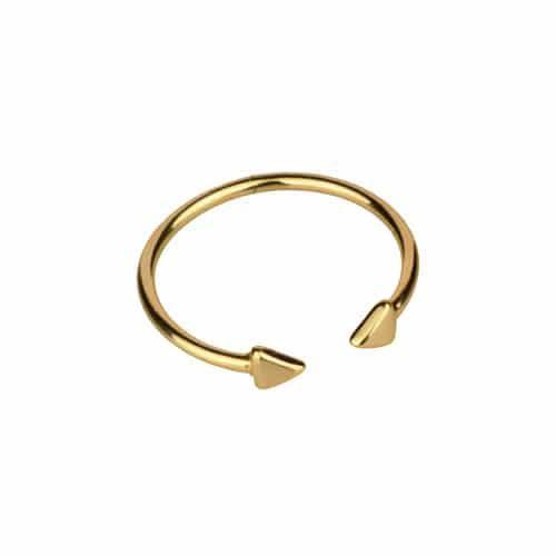 anillo triangulos oro