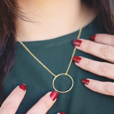 cadena colgante circulo oro