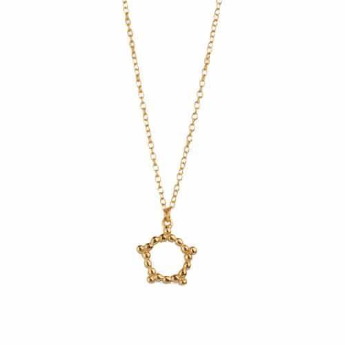 collar estrella puntitos oro