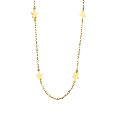 collar estrellitas oro