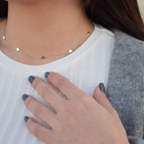 collar estrellitas oro cocobiyu