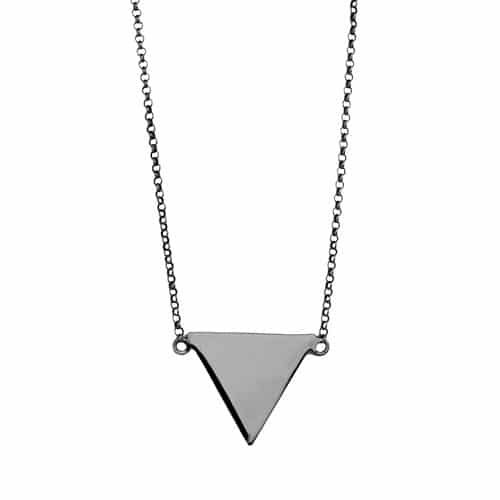 collar triangulo plata
