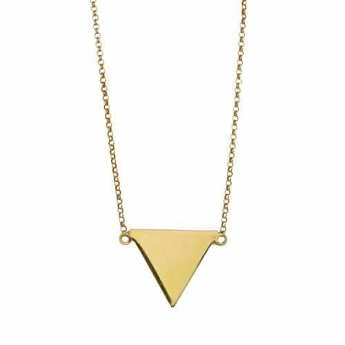 collar triangulo grande oro