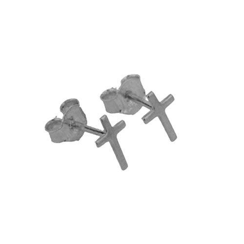 pendientes cruz plata