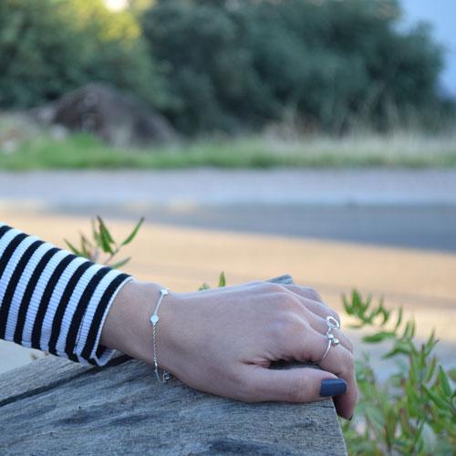 pulsera circulitos plata
