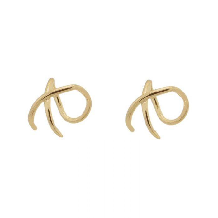 ear cuff cruz de oro