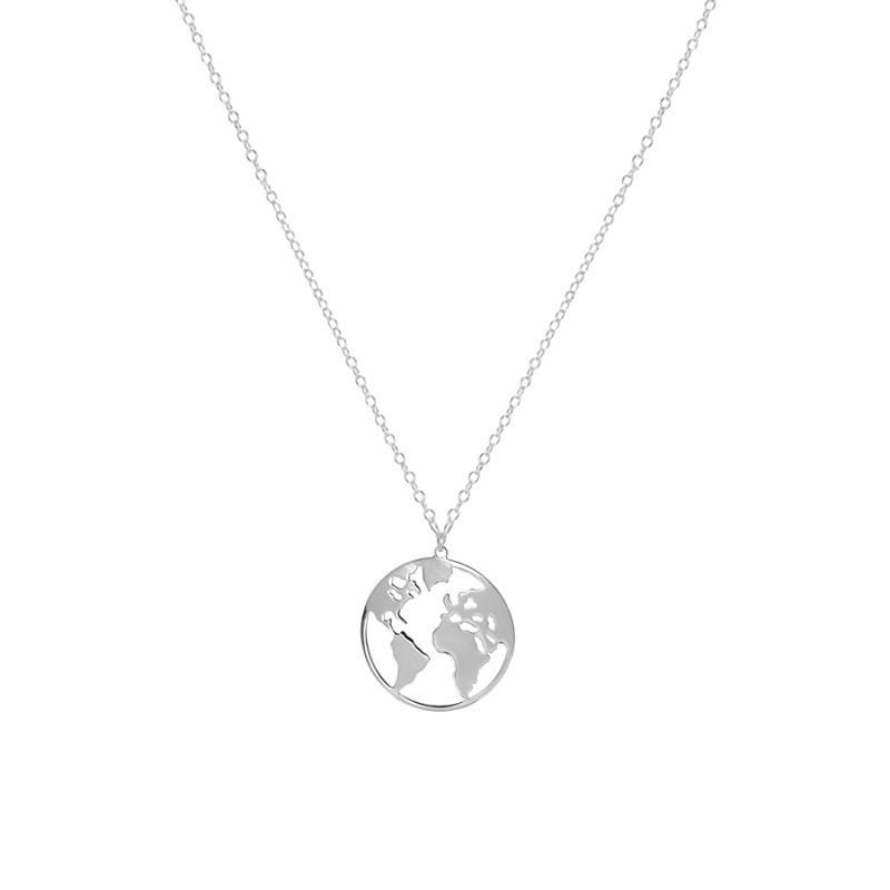 collar mundo plata