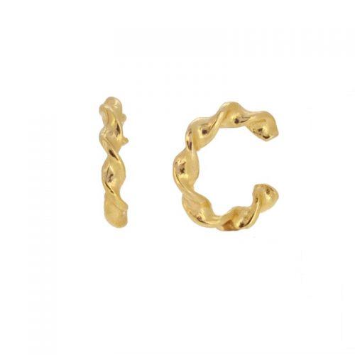 ear cuff rizado dorado de cocobiyu
