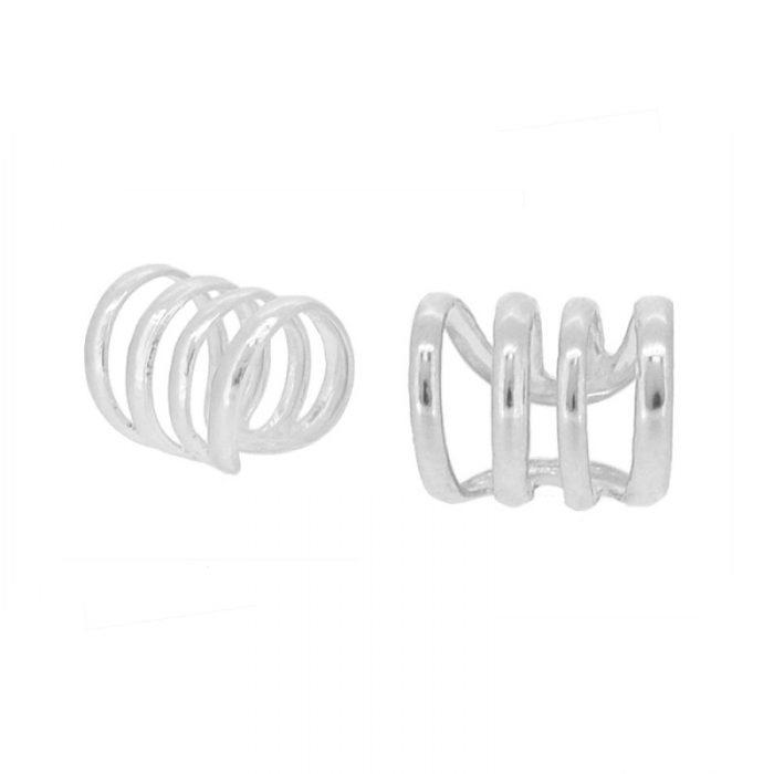 pendientes ear cuff trepadores plata