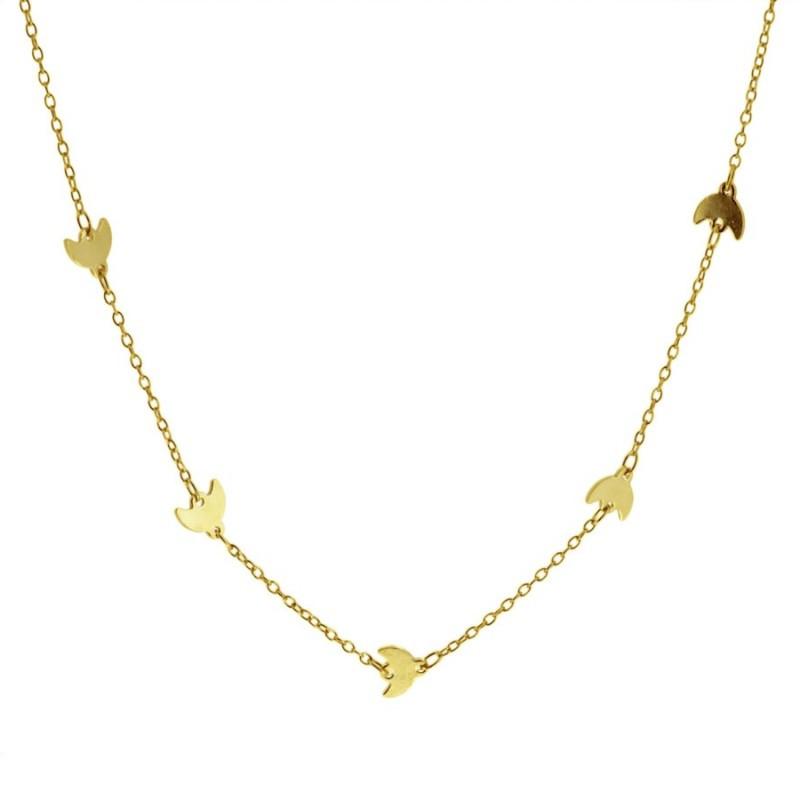 collar lunas oro de cocobiyu