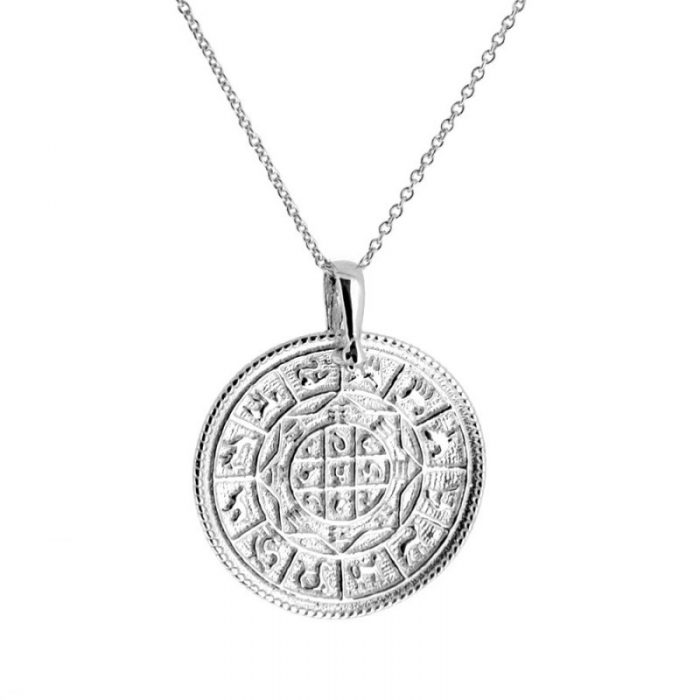 collar zodiaco plata