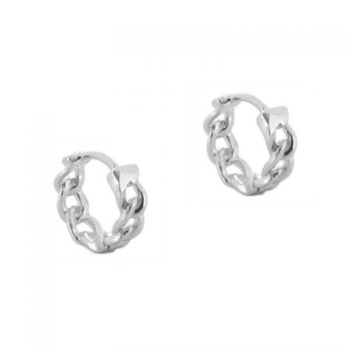 aros cadenas plata