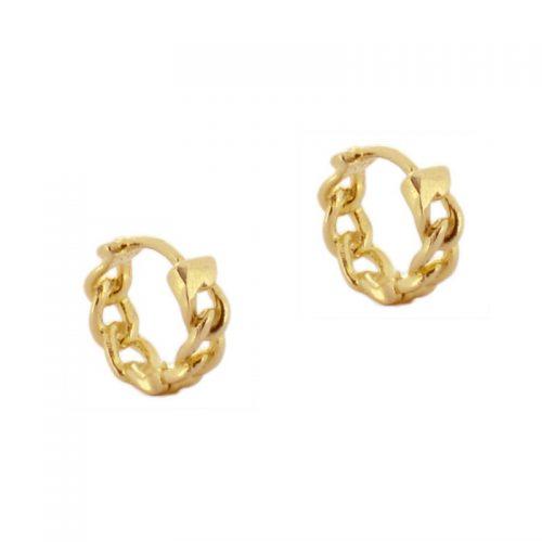 1bfe22c6e4d5 pendientes aros cadenas aros cadena oro con fondo blanco