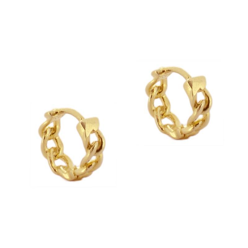 a7bc12662897 pendientes aros cadenas · aros cadena oro con fondo blanco