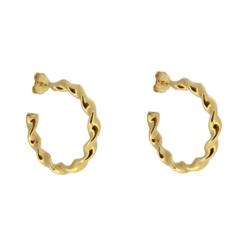 pendientes de oro trenzado