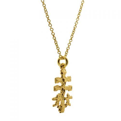collar cruz de caravaca oro