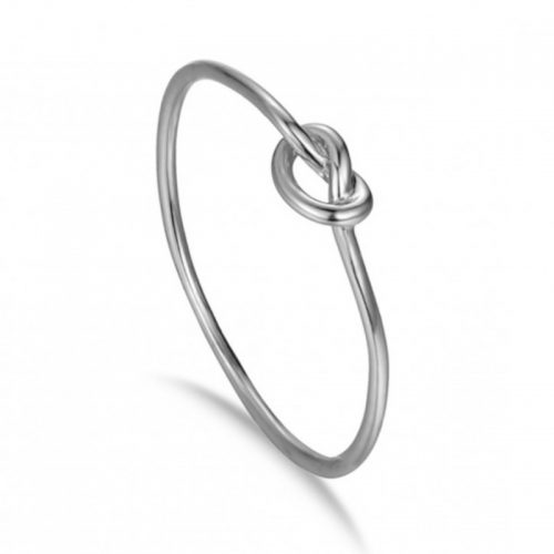 anillo nudo plata