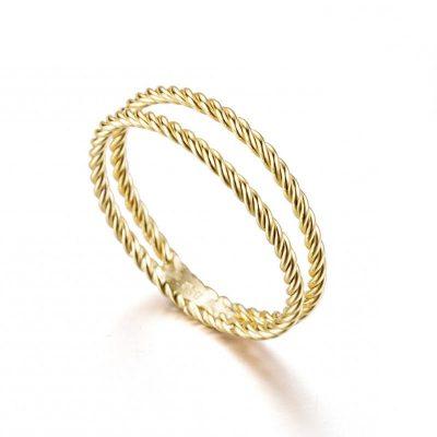 anillo oro trenzado
