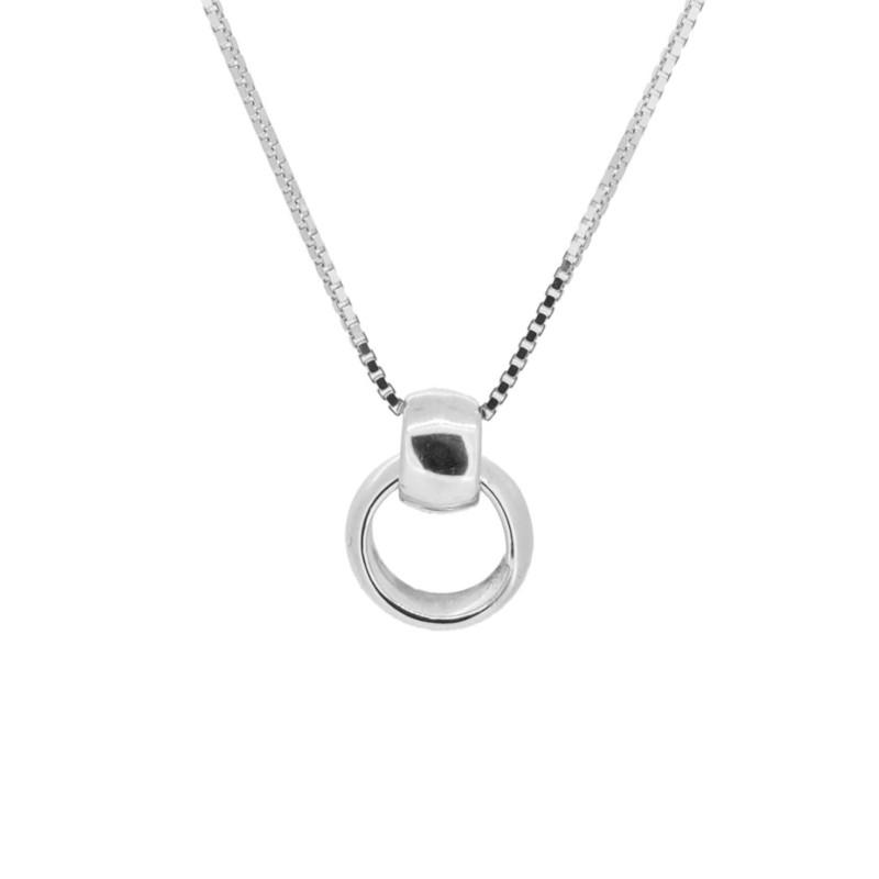 cadena dos aros plata