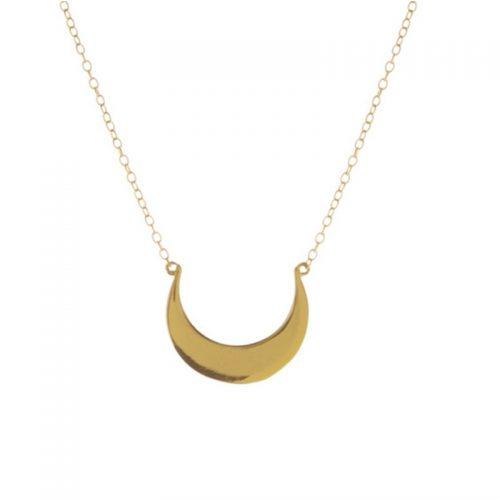 collar luna invertida oro