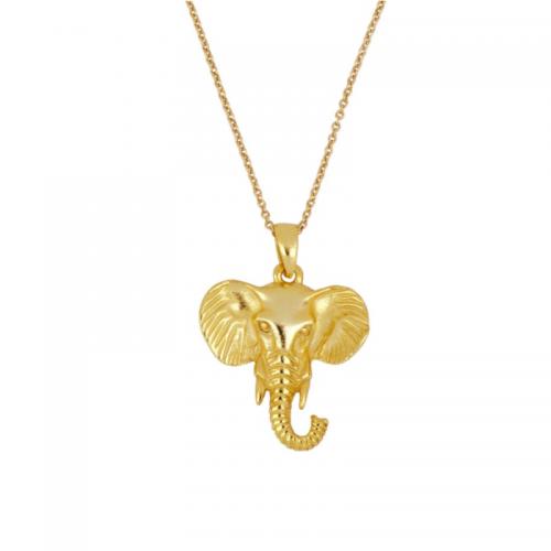 collar colgante elefante
