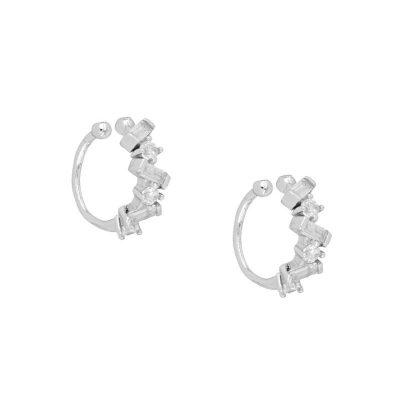 Ear cuff circonitas plata